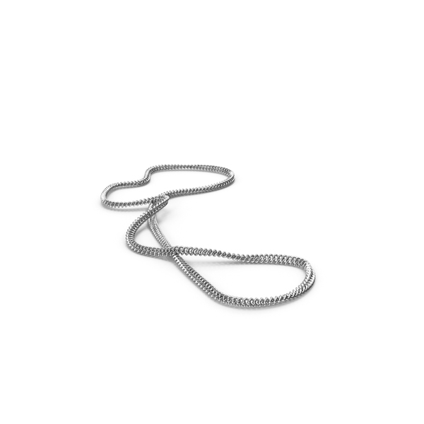 Silver Chain Necklace PNG & PSD Images