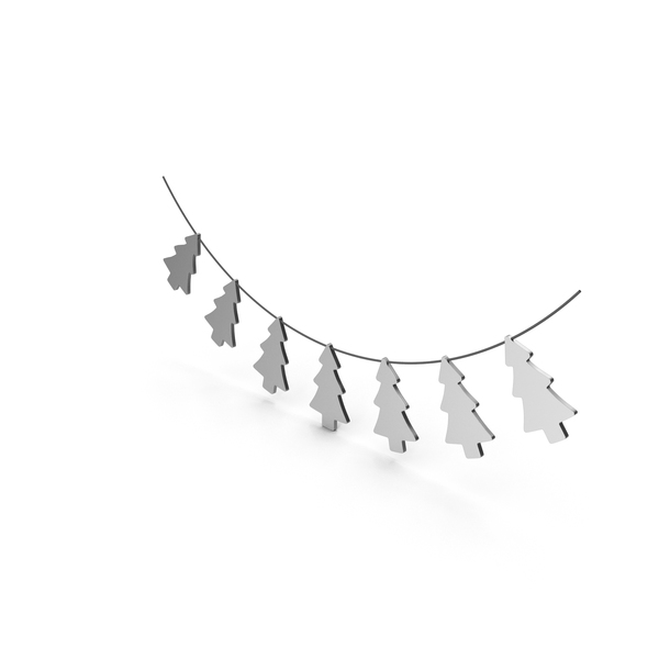 Silver Christmas Tree Garland PNG & PSD Images