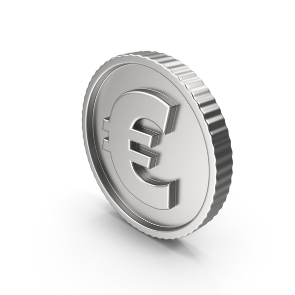 Silver Coin Euro PNG & PSD Images