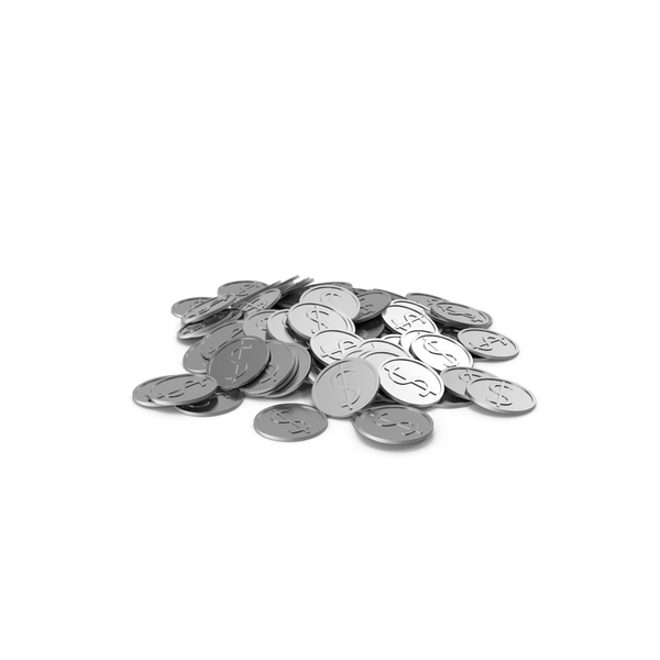 Silver Coins PNG & PSD Images