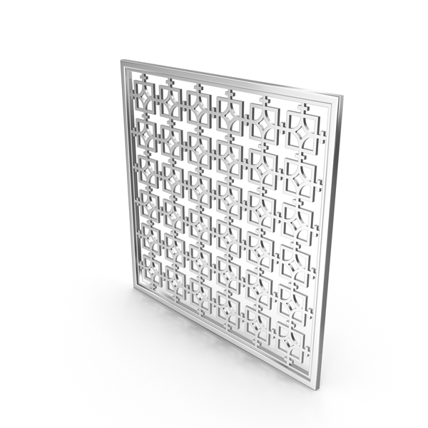 Wall Hanger: Silver Decor Panel PNG & PSD Images