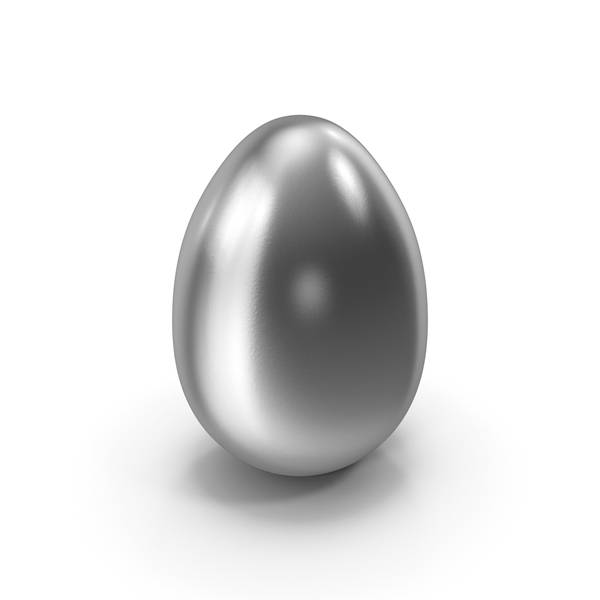 Easter: Silver Egg PNG & PSD Images