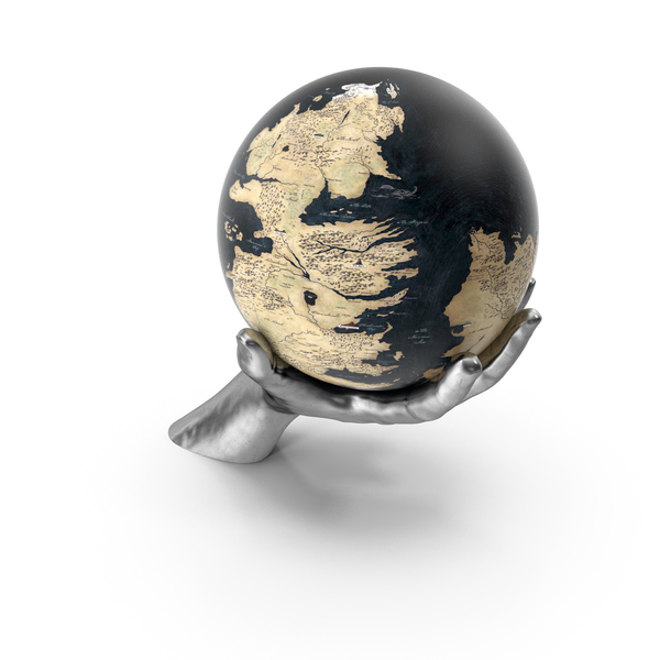 Silver Hand Holding a Fantasy Globe PNG & PSD Images