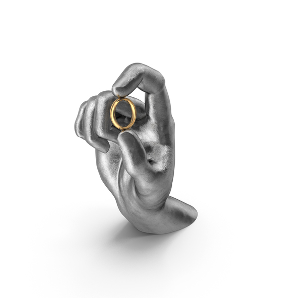 Arms: Silver Hand Holding a Ring PNG & PSD Images