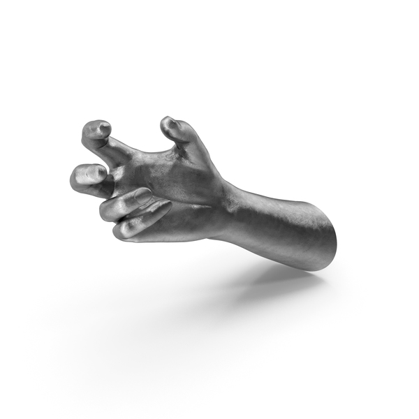 Silver Hand Small Sphere Object Hold Pose PNG & PSD Images
