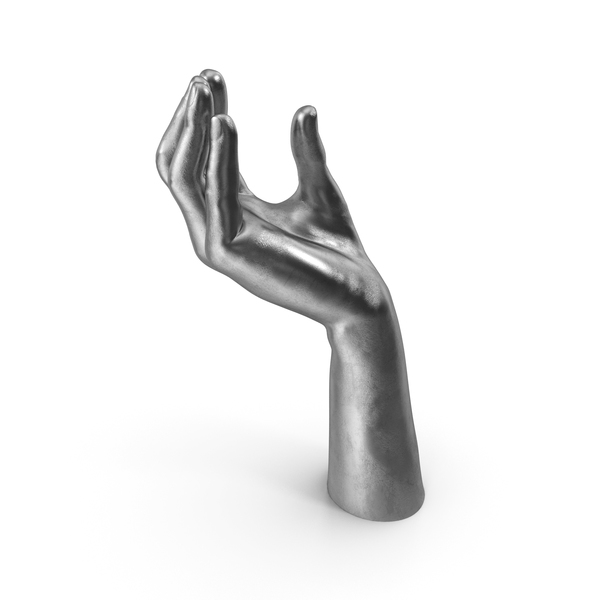 Silver Hand Upwards Object Hold Pose PNG & PSD Images