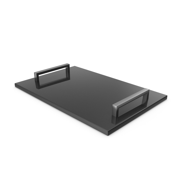 Silver Handle Black Marble Tray PNG & PSD Images