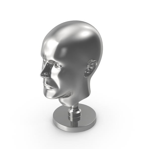 Silver Head Statue PNG & PSD Images