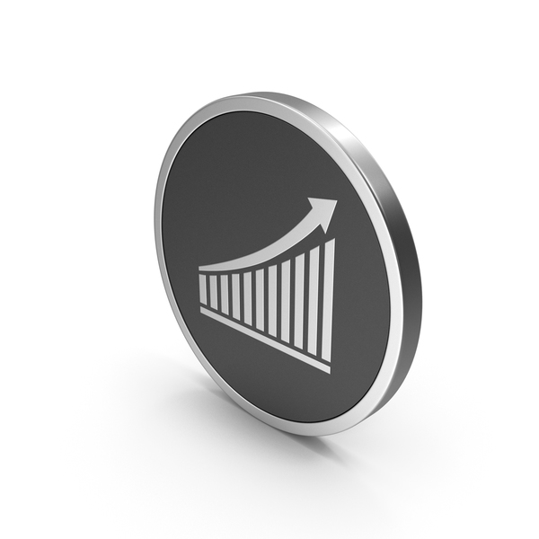 Graph: Silver Icon Chart With Arrow PNG & PSD Images
