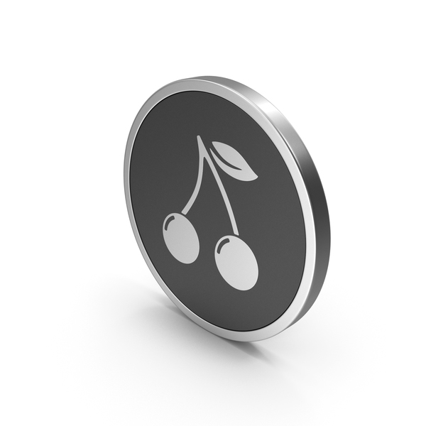 Logo: Silver Icon Cherries PNG & PSD Images