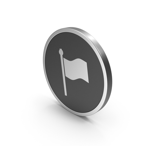 Silver Icon Flag PNG & PSD Images