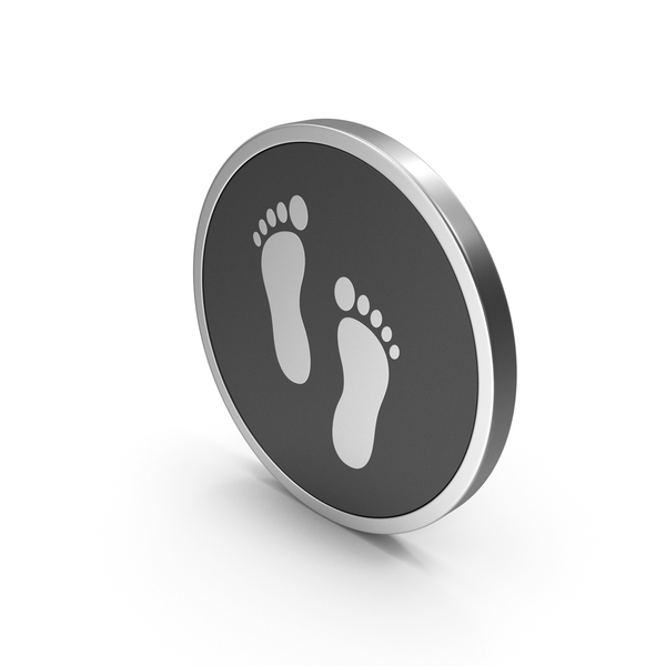 Computer: Silver Icon Footprint PNG & PSD Images
