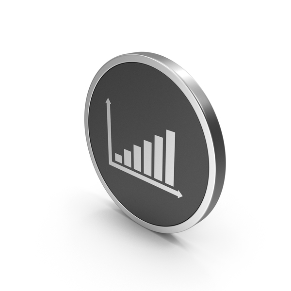 Line Chart: Silver Icon Graph PNG & PSD Images