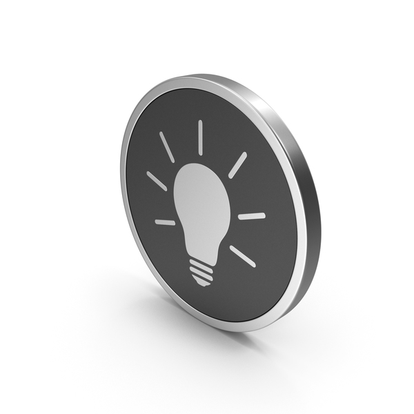 Lightbulb: Silver Icon Light Bulb PNG & PSD Images