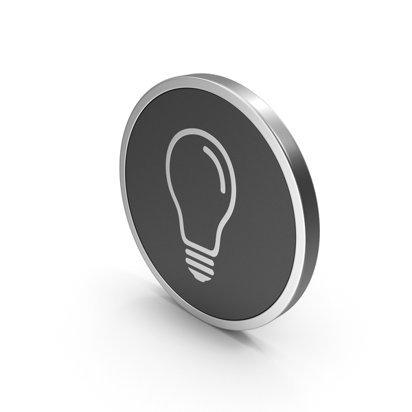 Logo: Silver Icon Light Bulb PNG & PSD Images