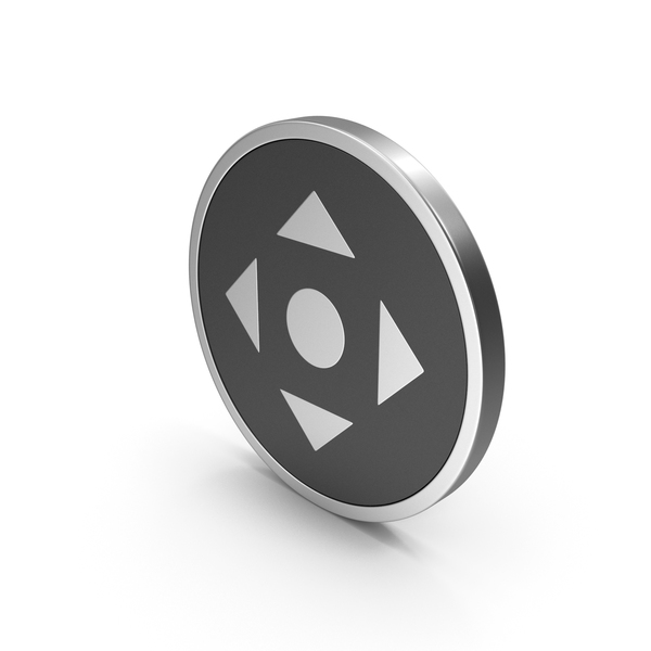Directional Arrow: Silver Icon Move Button PNG & PSD Images