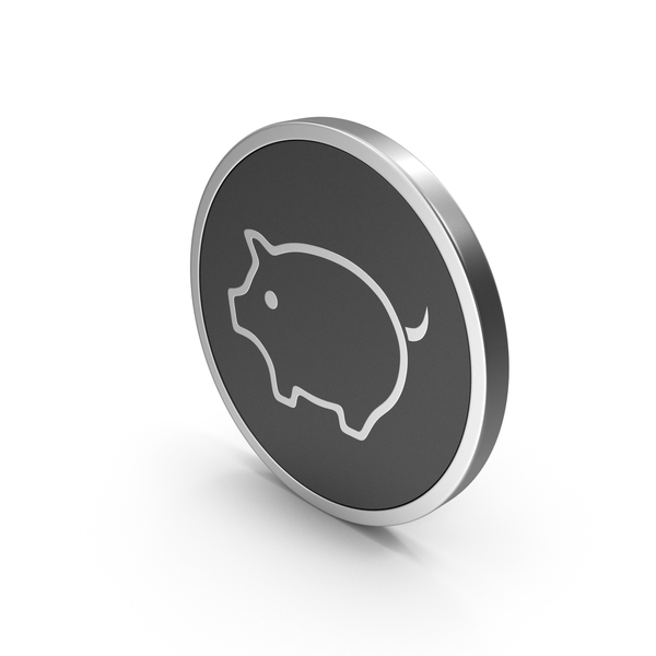 Piggy Bank: Silver Icon Pig PNG & PSD Images