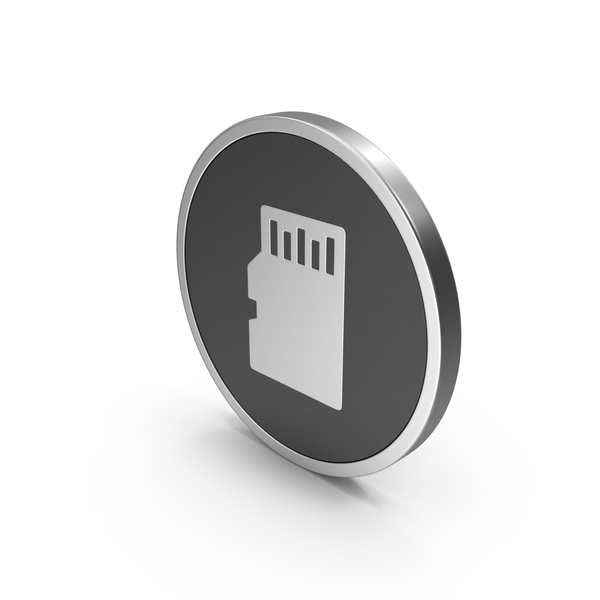 Symbols: Silver Icon SD Card PNG & PSD Images
