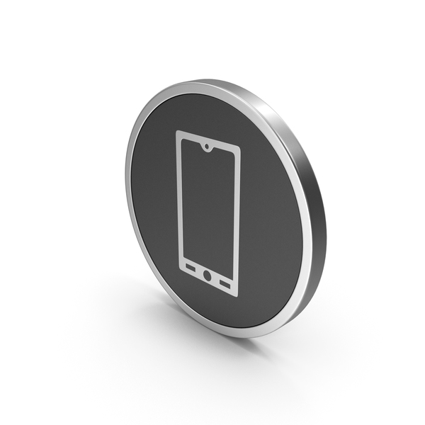 Logo: Silver Icon Smart Phone PNG & PSD Images