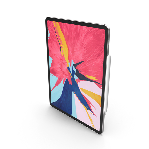 Silver iPad Pro 2019 PNG & PSD Images