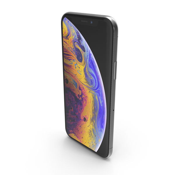 Smartphone: Silver iPhone XS PNG & PSD Images