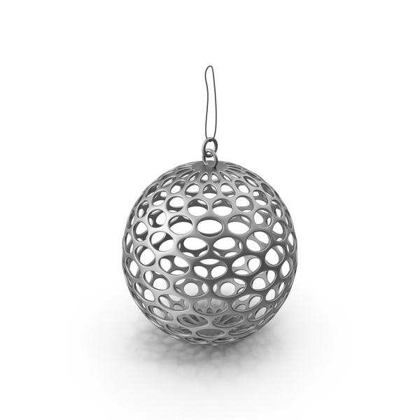 Silver Mesh Christmas Ornament PNG & PSD Images