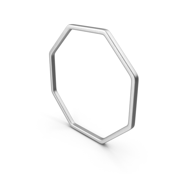 Geometric Shape: Silver Octagon PNG & PSD Images