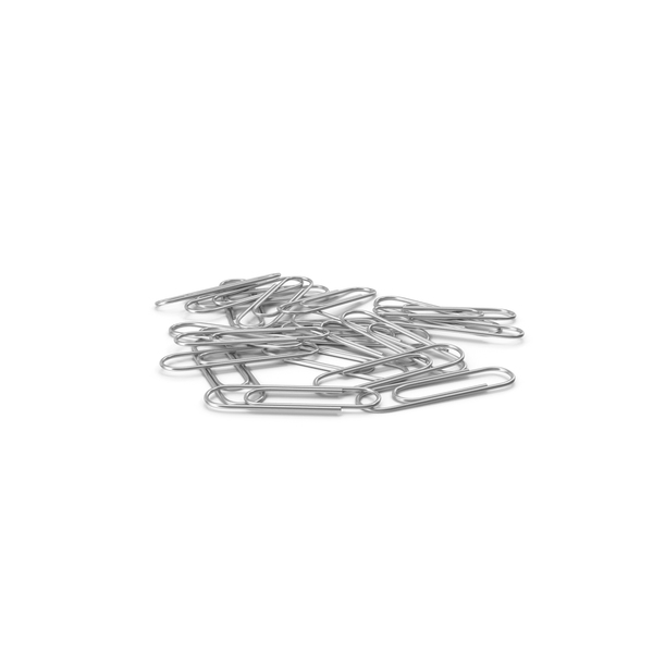 Silver Paper Clips Stack PNG & PSD Images