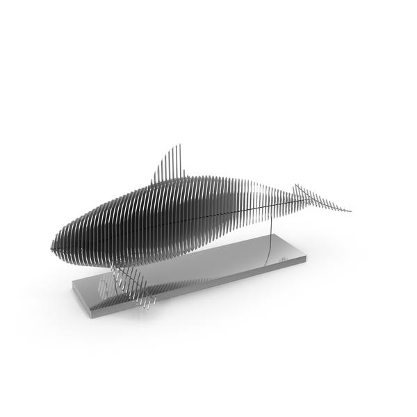 Silver Parametric Decor Killer Whale PNG & PSD Images