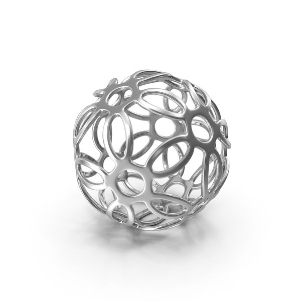 Silver Patterned Sphere PNG & PSD Images