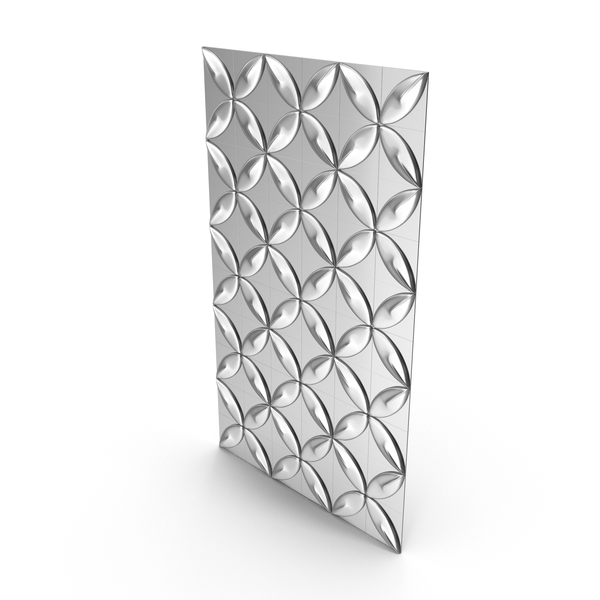 Silver Petal Panel Wall PNG & PSD Images
