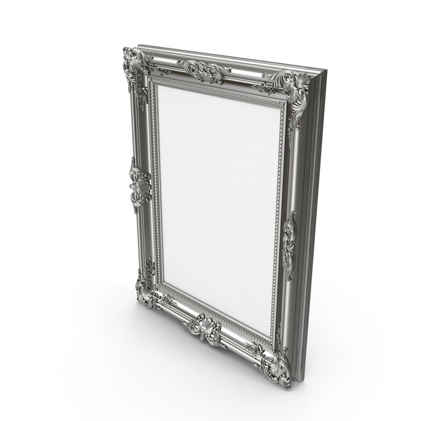 Silver Picture Frame PNG & PSD Images