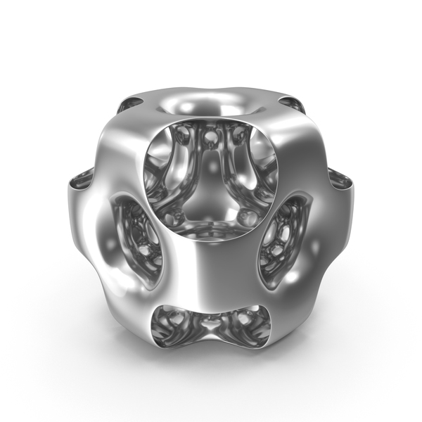 Silver Ported Cube PNG & PSD Images