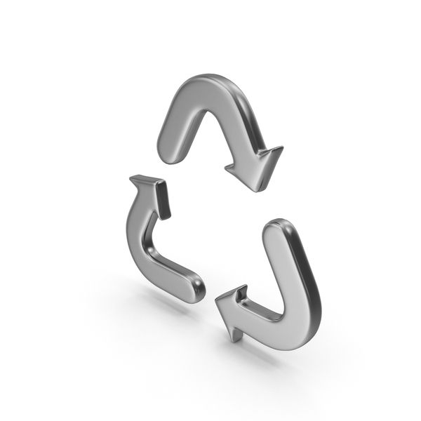 Silver Recycle Symbol PNG & PSD Images