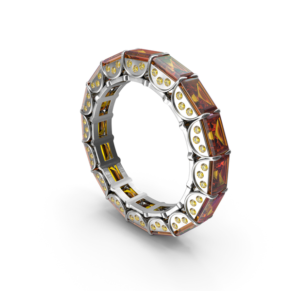 Silver Ring with Amber PNG & PSD Images