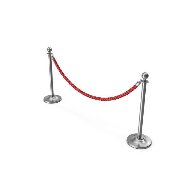 Silver Rope Barriers PNG & PSD Images