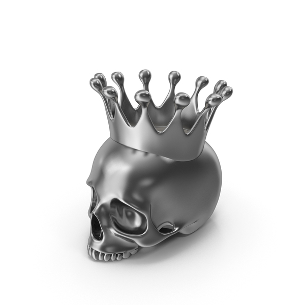 Silver Skull Head Candle with Crown PNG & PSD Images