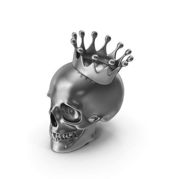 Silver Skull with Crown PNG & PSD Images