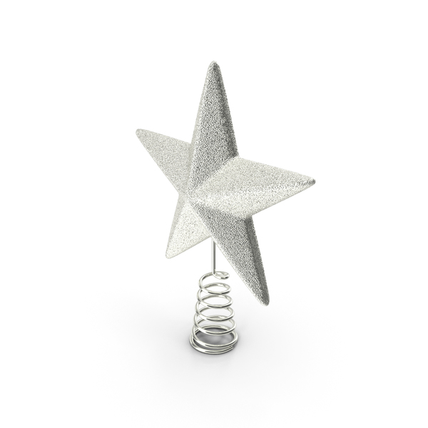 Silver Star Tree Topper PNG & PSD Images