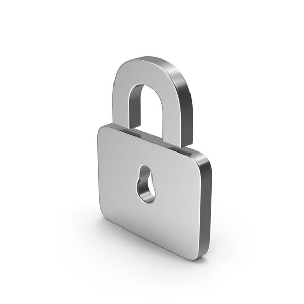 Computer Icon: Silver Symbol Padlock PNG & PSD Images