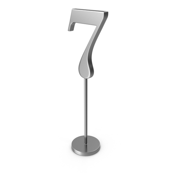 Silver Table Number 7 PNG & PSD Images