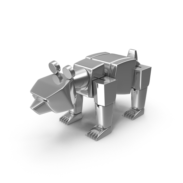 Silver Toy Bear PNG & PSD Images