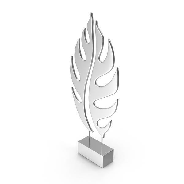 Silver Tree Leaf Sculpture PNG & PSD Images