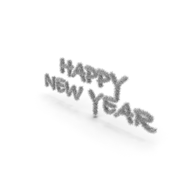 Silver Tree Symbol Happy New Year PNG & PSD Images