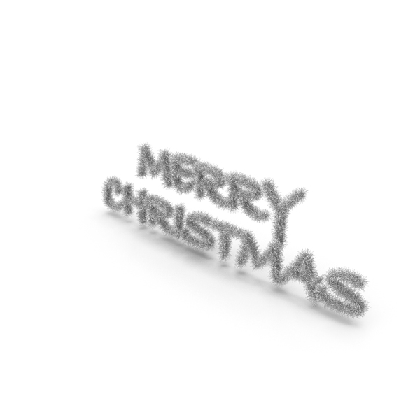 Silver Tree Symbol Merry Christmas PNG & PSD Images