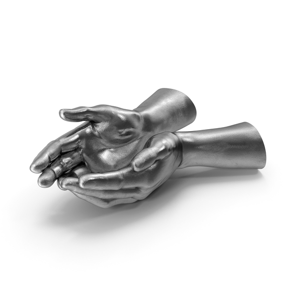 Arms: Silver Two Hands Handful Pose PNG & PSD Images