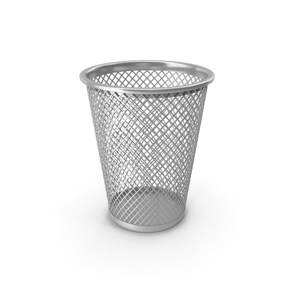 Silver Waste Basket PNG & PSD Images