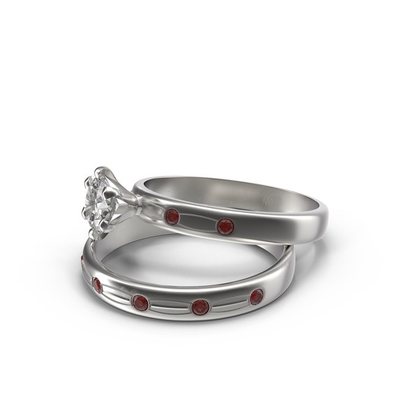 Silver Wedding Rings PNG & PSD Images