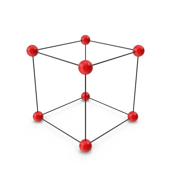 Molecule: Simple Crystal Cubic Lattice Structure PNG & PSD Images