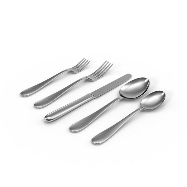 Simple Flatware Set Object